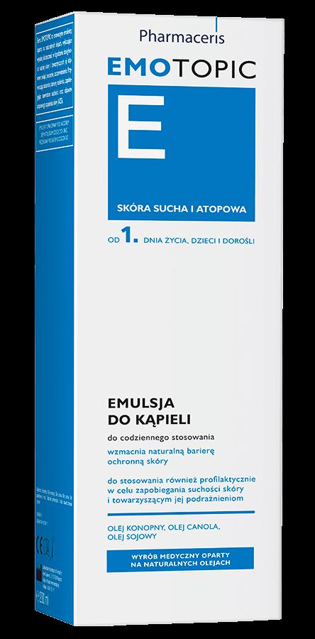 Emotopic - emulsja do kąpieli. Wzmacnia naturalną barierę ochronną skóry.