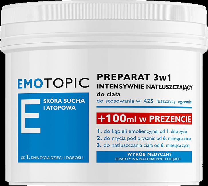 Emotopic - preparat 3w1 intensywnie natłuszczający do ciała