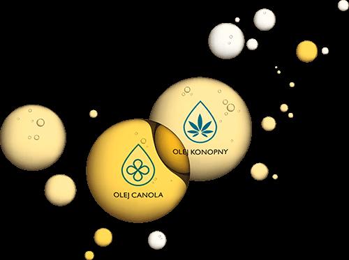 Olej canola i olej konopny