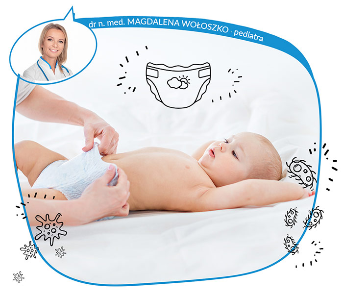Pieluszkowe zapalenie skóry - co to za choroba i jak dbać o pupę niemowlaka?