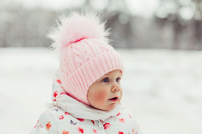 Ochrona skóry dziecka przed wiatrem i mrozem